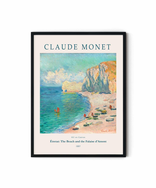 Monet-Étretat-The-Beach-and-the-Falaise-d'Amont-Poster-DUWART