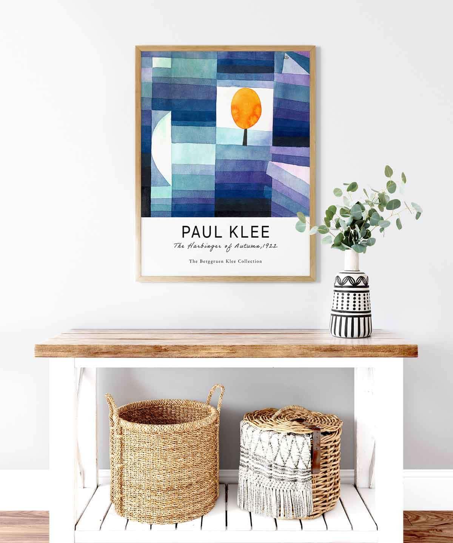 Paul-Klee-The-Harbinger-of-Autumn-Poster-Wooden-Framed-Duwart