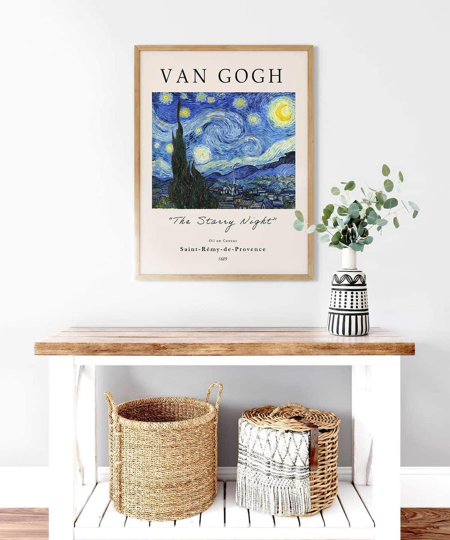 The-Starry-Night-Poster-Wooden-Framed-Duwart