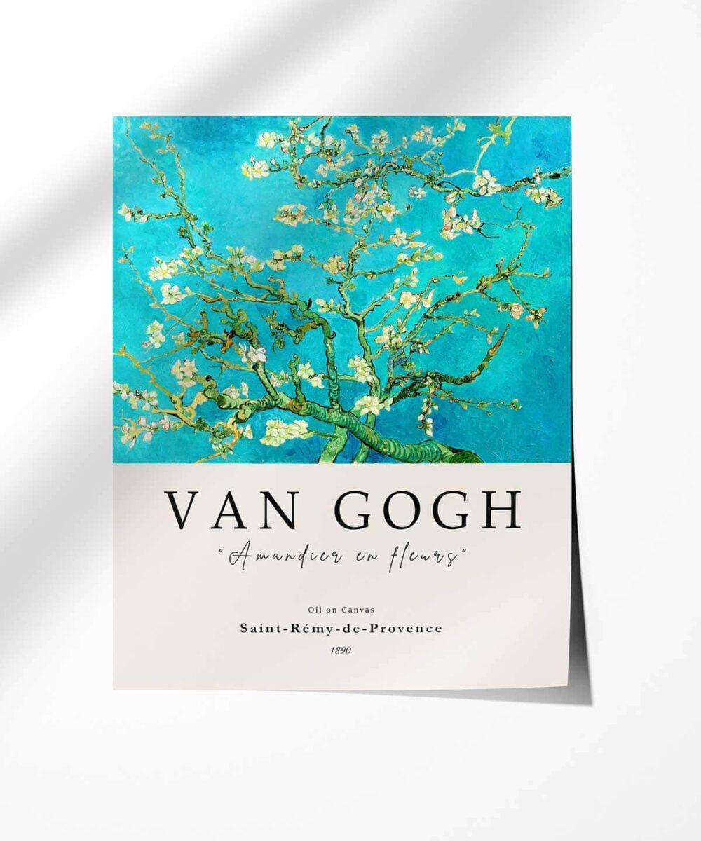 Van-Gogh-Blossoming-Almond-Tree-Poster-Black-Framed-Duwart (1)