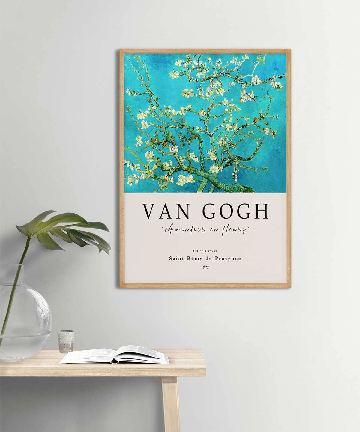 Van-Gogh-Blossoming-Almond-Tree-Poster-on-Wall-Wooden-Frame-Duwart