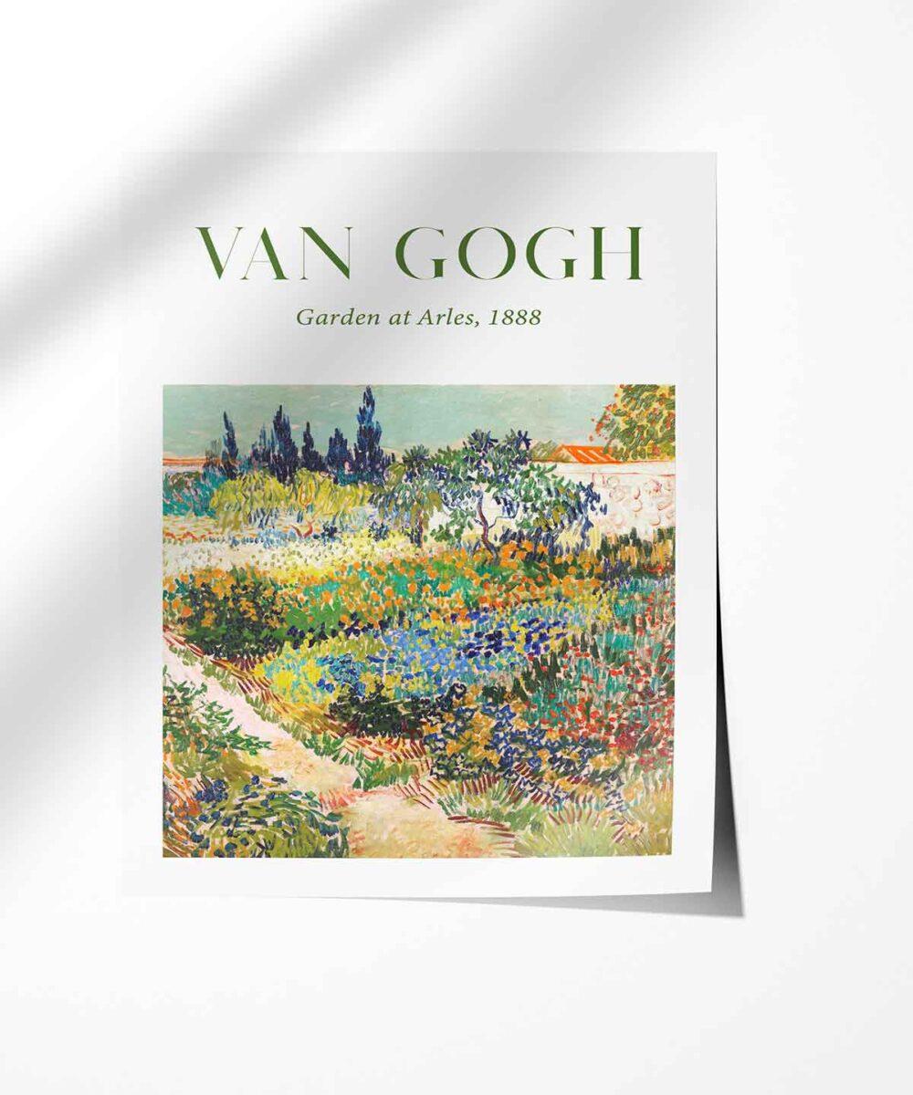 Van-Gogh-Garden-at-Arles-Poster-Art-Print-Black-Framed-Duwart-Photopaper