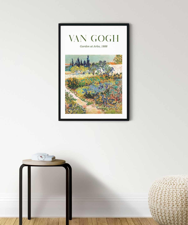 Van-Gogh-Garden-at-Arles-Poster-Art-Print-Black-Framed-Duwart