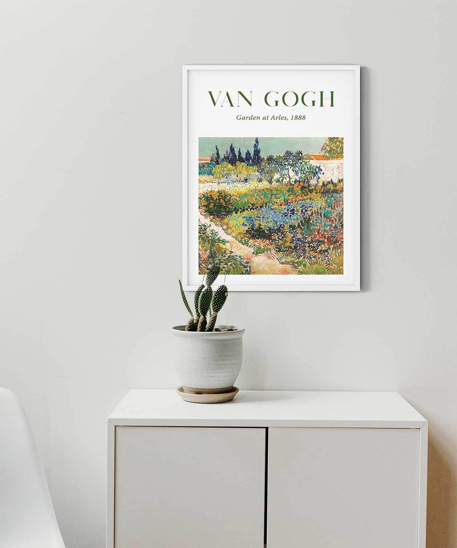 Van-Gogh-Garden-at-Arles-Poster-White-Framed-Duwart