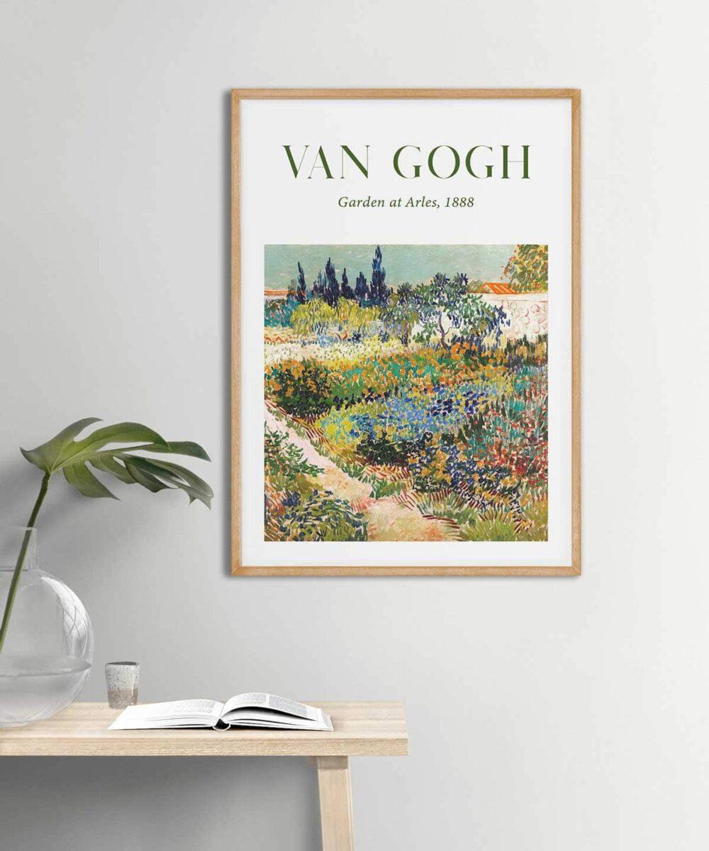 Van-Gogh-Garden-at-Arles-Poster-Wooden-Frame-Duwart