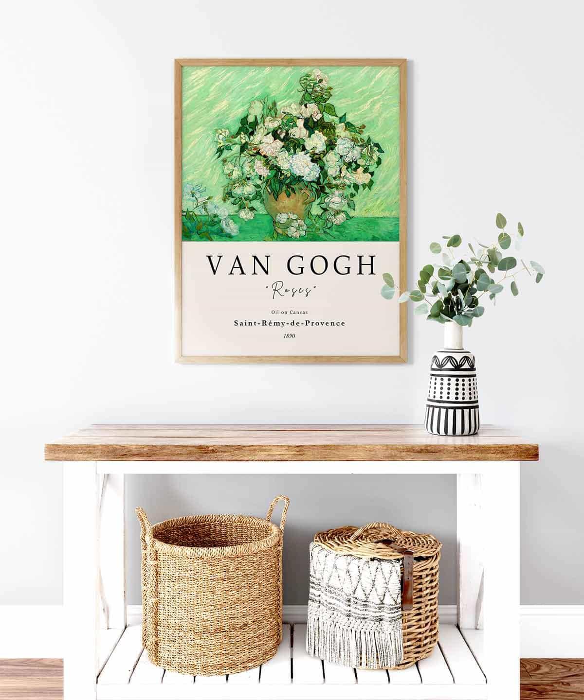 Van-Gogh-Roses-Poster-Wooden-Framed-Duwart
