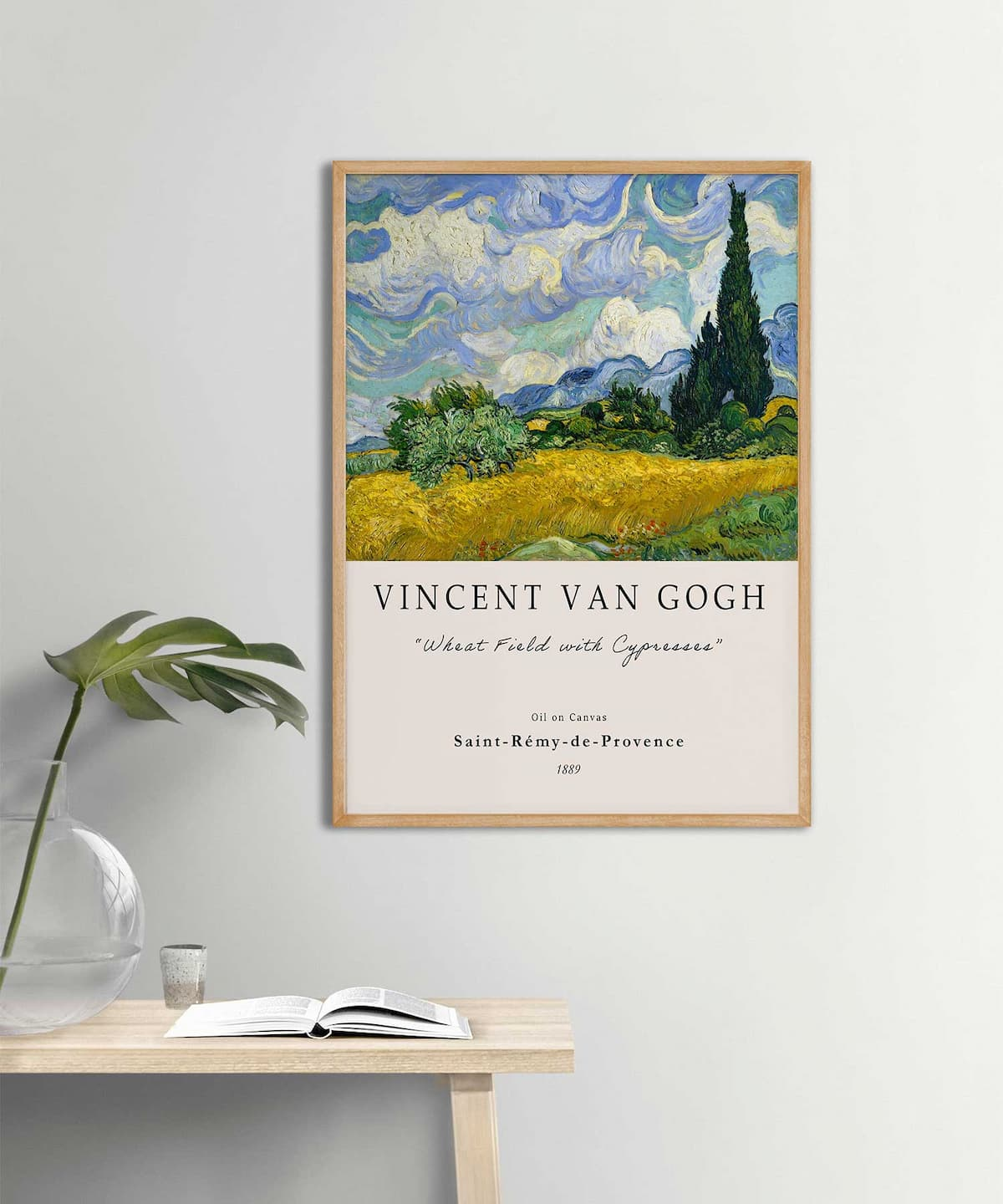 Van-Gogh-Wheat-Field-with-Cypresses-Poster-Poster-Wooden-Frame-Duwart