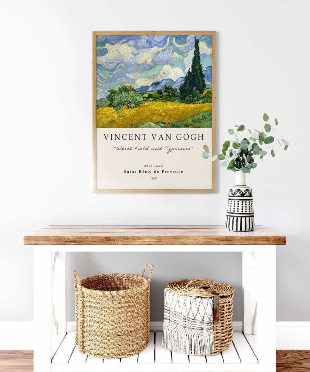 Van-Gogh-Wheat-Field-with-Cypresses-Poster-Wooden-Framed-Duwart