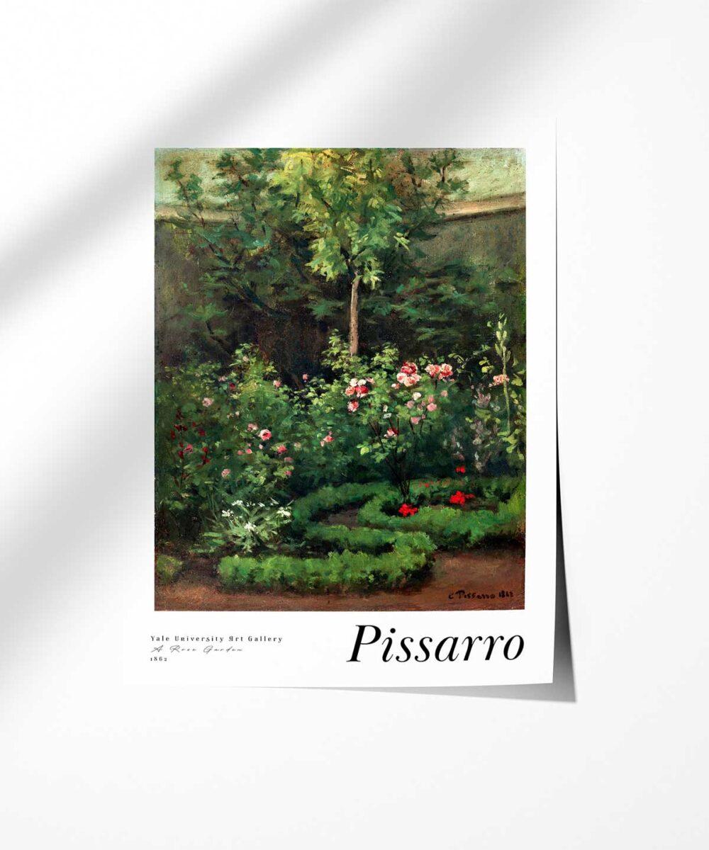 Camille-Pissarro-A-Rose-Garden-Poster-Photopaper-Duwart