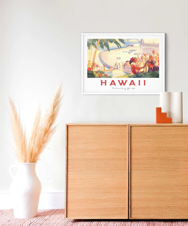 Hawaii-Poster-White-Framed-New-Duwart