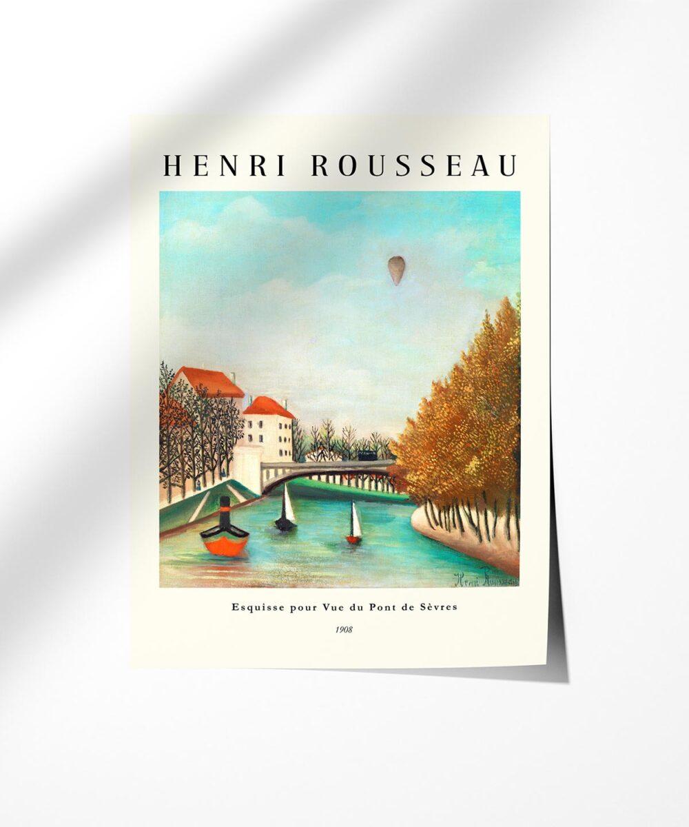 Henri-Rousseau-View-of-the-Pont-de-Sevres-Poster-Photopaper-New-Duwart
