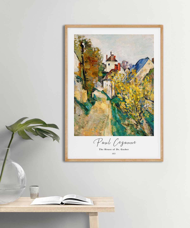 Paul-Cezanne-The-House-of-Dr.-Gachet-Poster-Wooden-Framed-Duwart