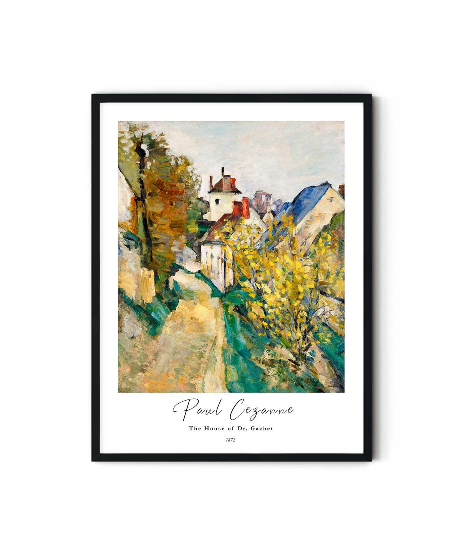 Paul-Cezanne-The-House-of-Dr.-Gachet-White-Bordered-Poster-Duwart