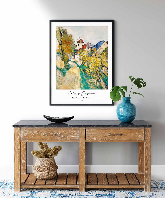 Paul-Cezanne-The-House-of-Dr.Gachet-Poster--Black-Framed-Duwart