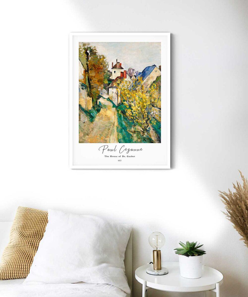 Paul-Cezanne-The-House-of-Dr.Gachet-Poster--White-Framed-Duwart