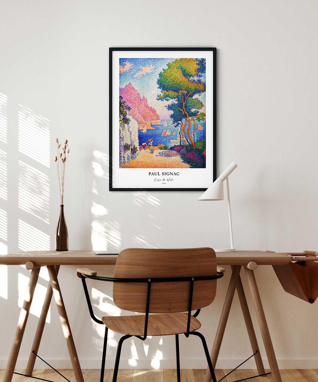 Paul-Signac-Capo-Di-Noli-Poster-Black-Framed-Duwart