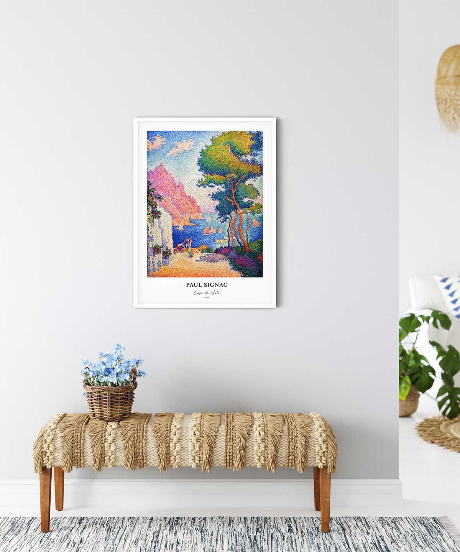 Paul-Signac-Capo-Di-Noli-Poster---WhiteFramed-on-Wall-Duwart