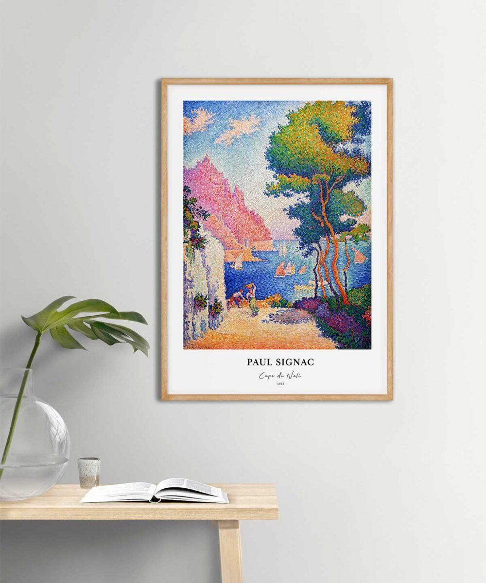 Paul-Signac-Capo-Di-Noli-Poster-Wooden-Frame-Duwart