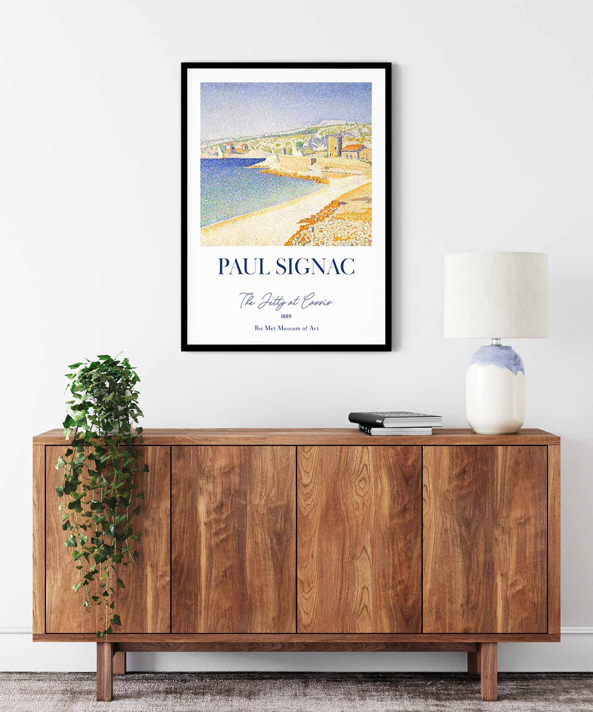Paul-Signac-The-Jetty-at-Cassis-Poster--Black-Framed-Duwart