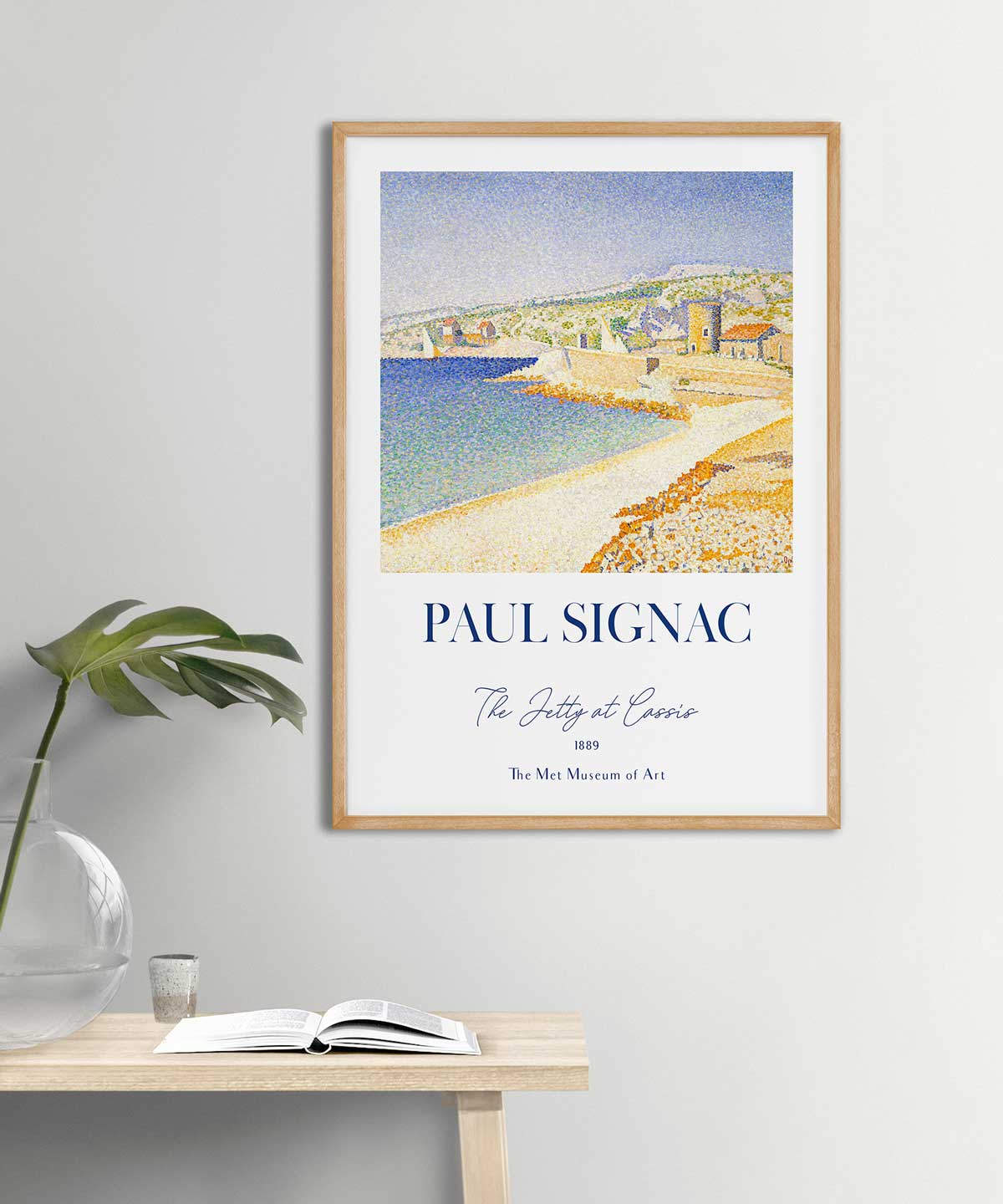Paul-Signac-The-Jetty-at-Cassis-Poster-Wooden-Frame-Duwart