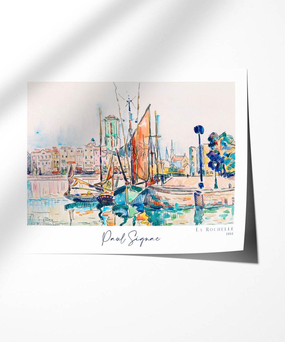 Paul-Signac-la-Rochelle-Poster-Photopaper-Duwart