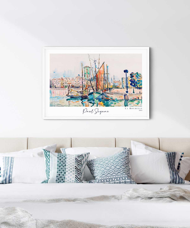 Paul-Signac-la-Rochelle-Poster-White-Framed-Duwart