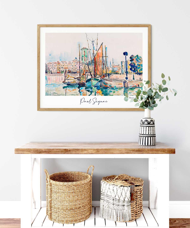 Paul-Signac-la-Rochelle-Poster-Wooden-Framed-Duwart