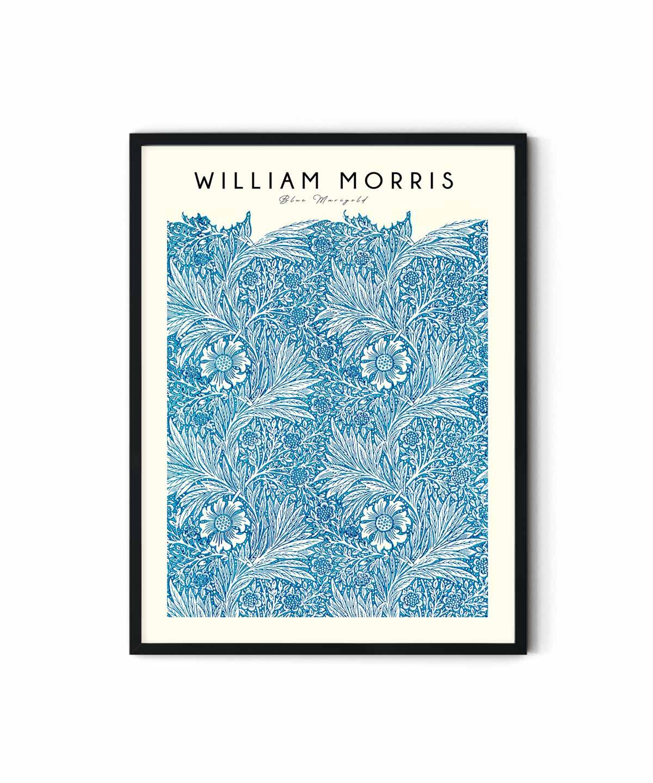 William-Morris-Blue-Marigold-Poster-Duwart