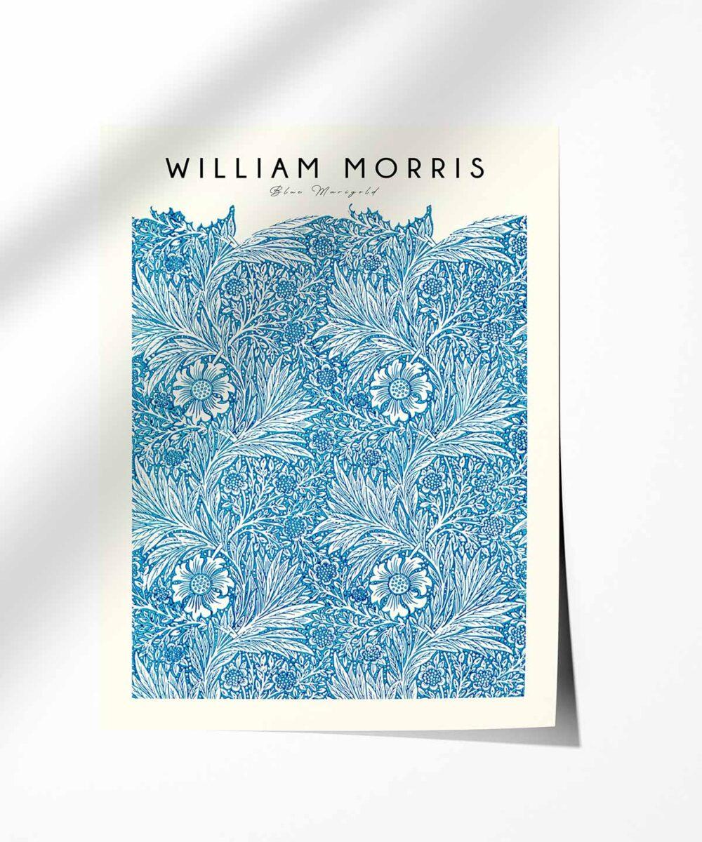 William-Morris-Blue-Marigold-Poster-Photopaper-Duwart