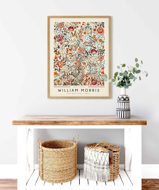 William-Morris-Linen-Print-Poster-Wooden-Framed-Duwart