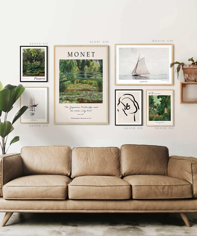 Fall-Art-Poster-Set-on-Livingroom-Wall-Duwart-with-Measure