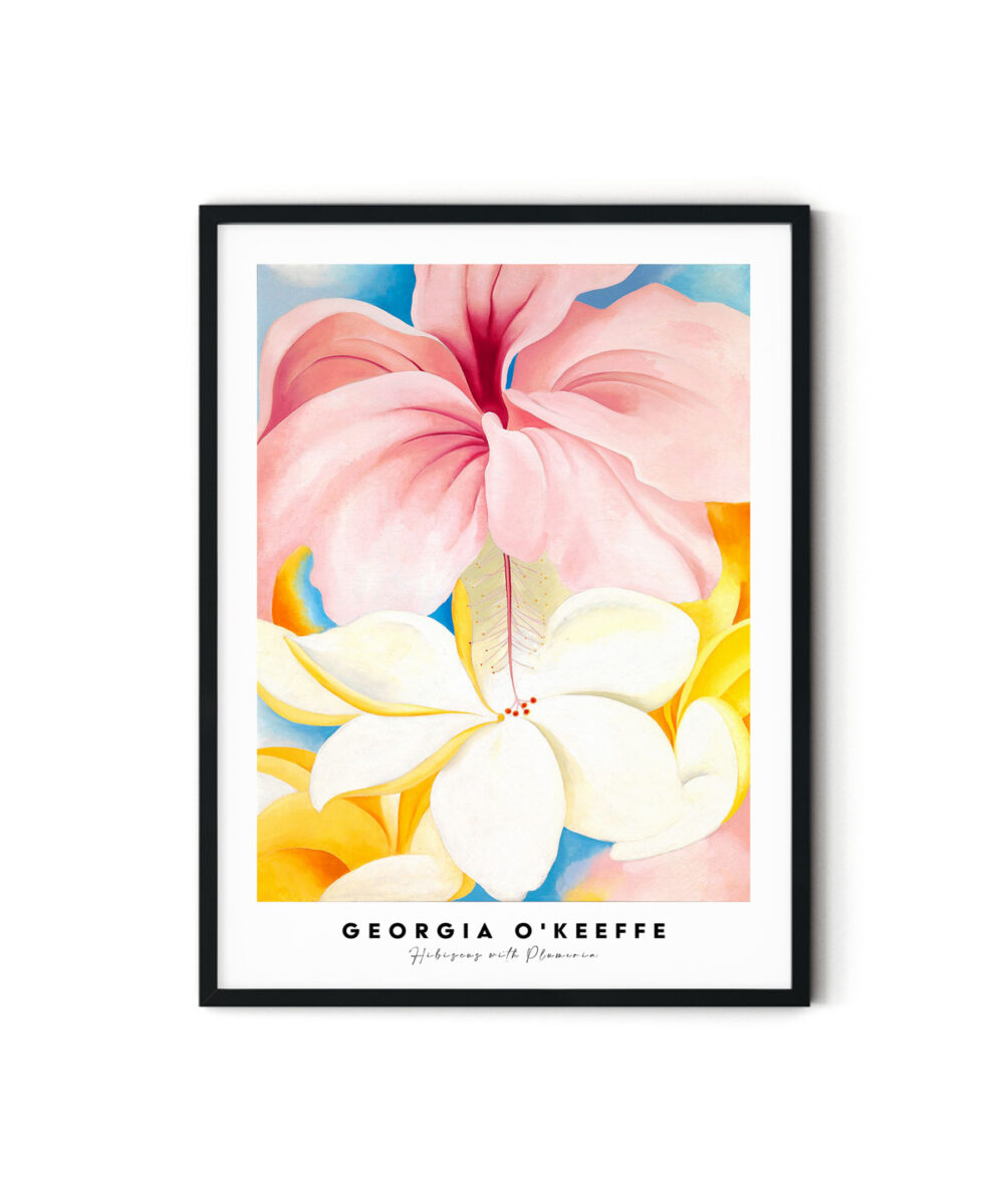 Georgia-O-Keeffe-Hibiscus-with-Plumeria-Poster-Duwart