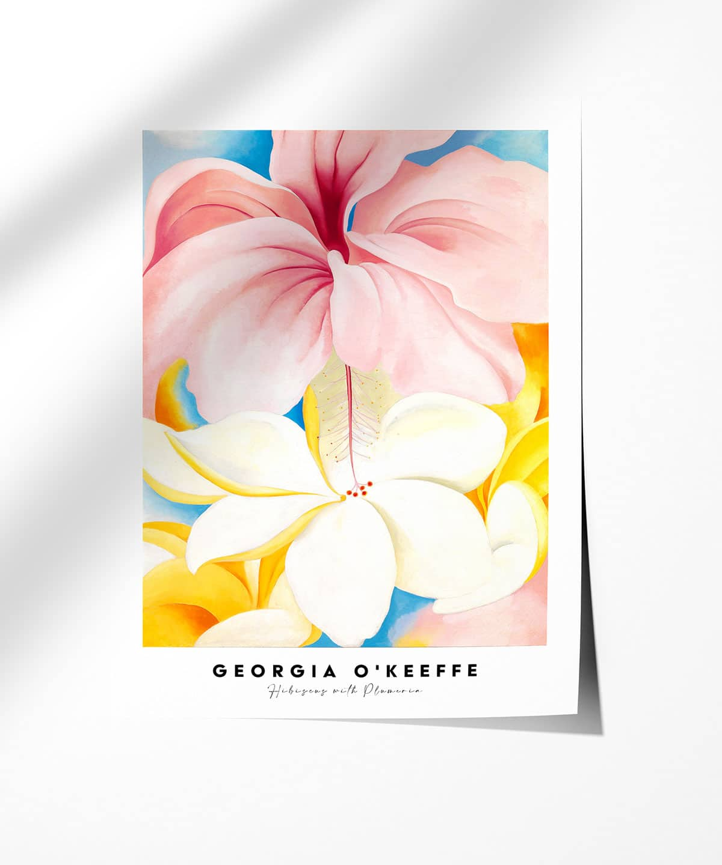 Georgia-O-Keeffe-Hibiscus-with-Plumeria-Poster-Photopaper-Duwart