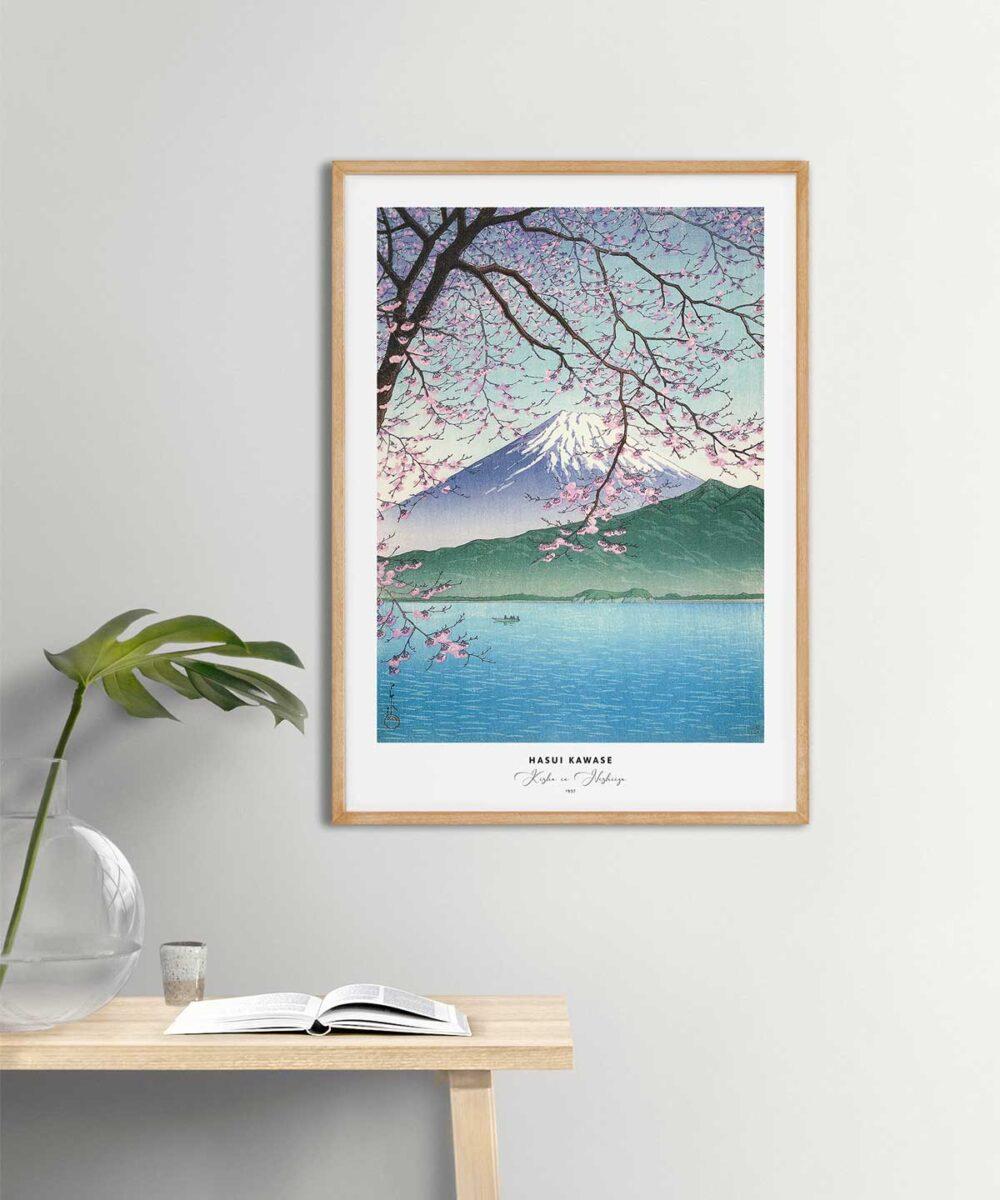 Hasui-Kawase-Kisho-in-Nishiizu-Poster-Wooden-Framed-on-Wall-Duwart