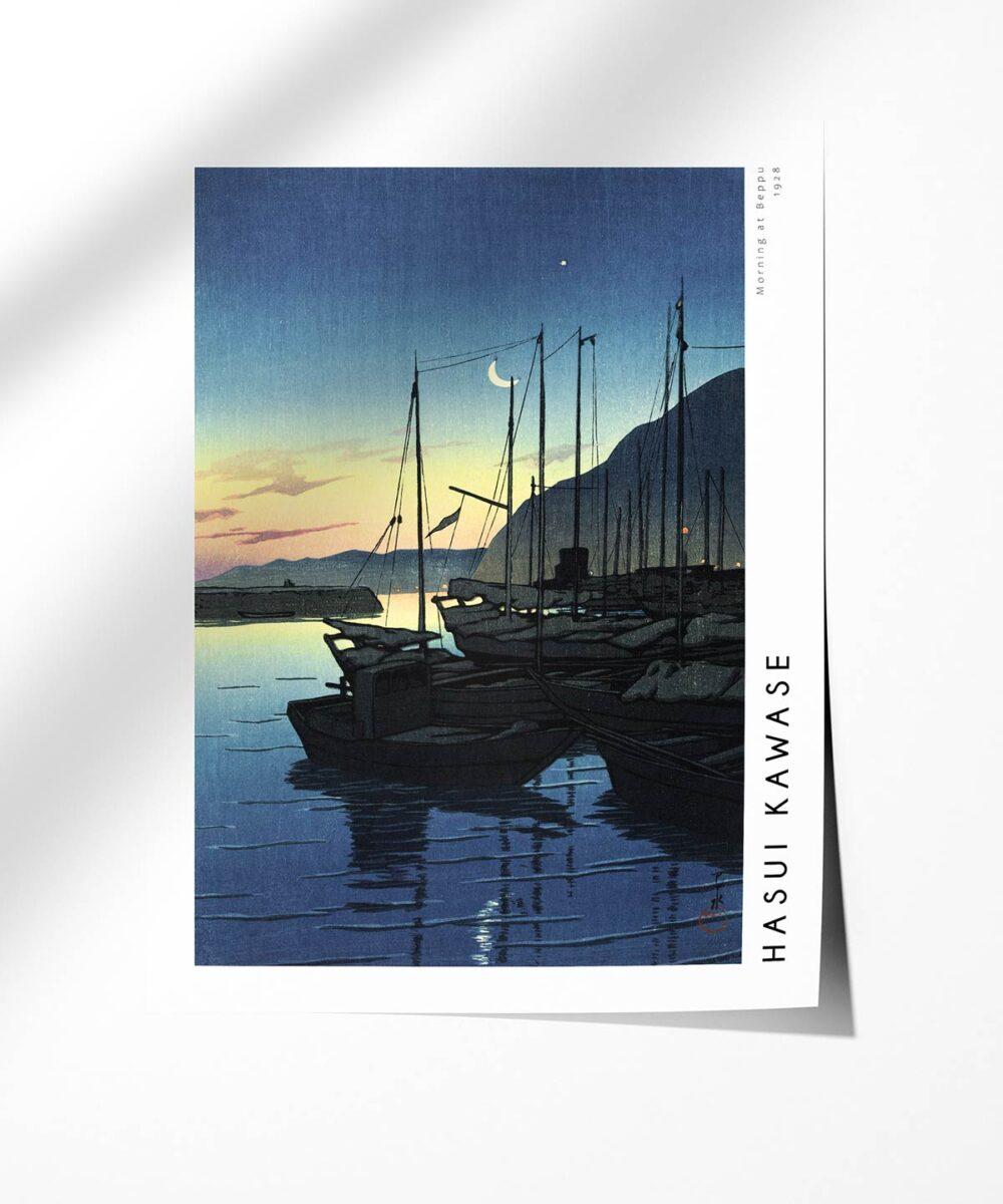 Hasui-Kawase-Morning-at-Beppu-Poster-Photopaper-Duwart