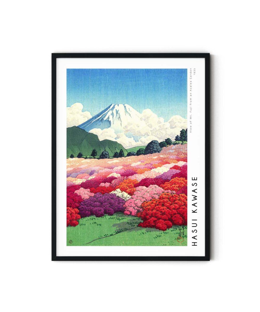 Hasui-Kawase-Mt-Fuji-from-an-Azalea-Garden-Poster-Duwart