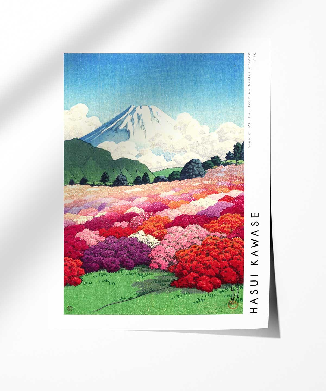 Hasui-Kawase-Mt-Fuji-from-an-Azalea-Garden-Poster-Photopaper-Duwart