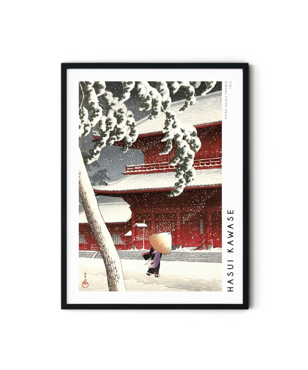 Hasui-Kawase-Shiba-Zojoji-Temple-Poster-Duwart