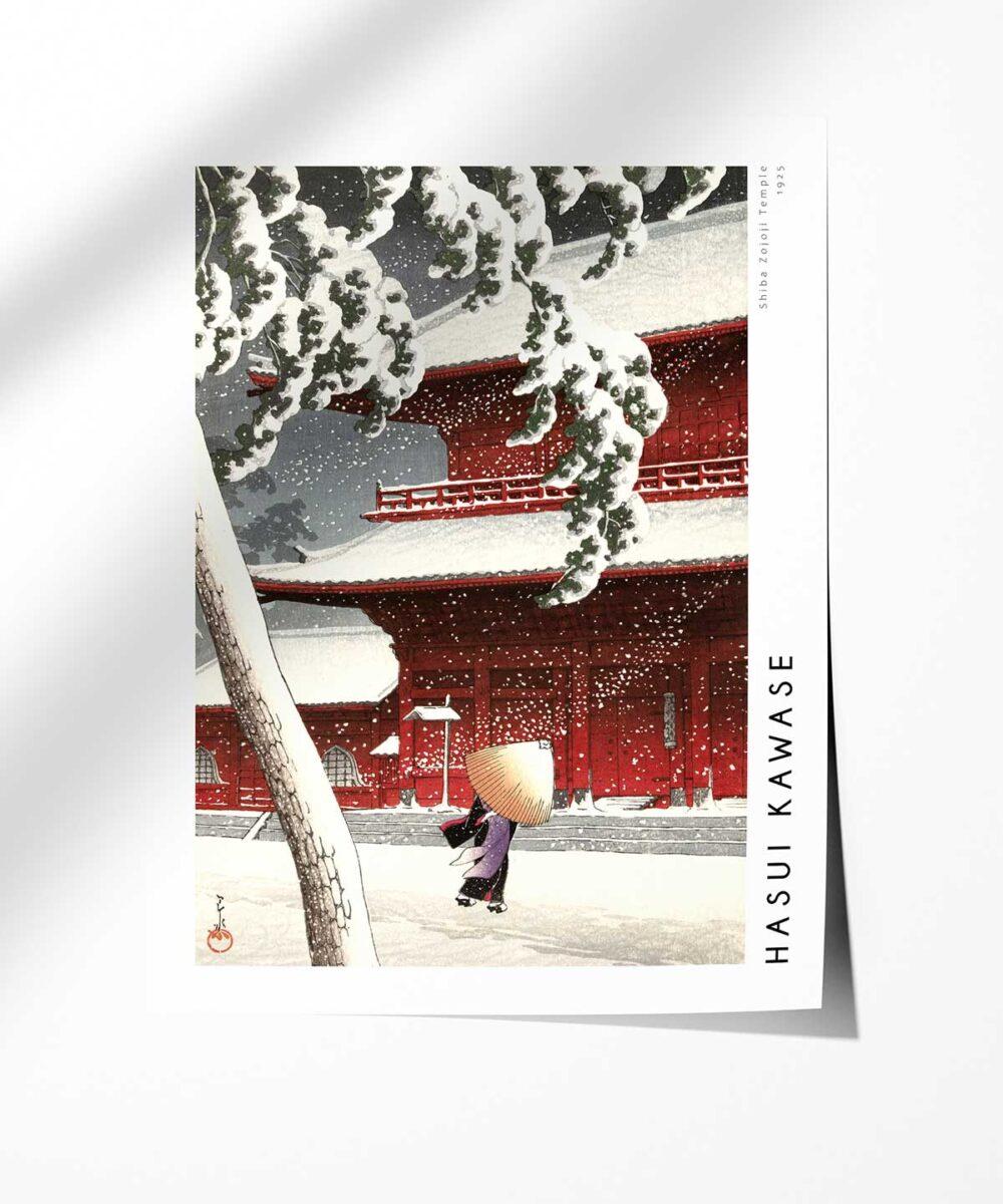 Hasui-Kawase-Shiba-Zojoji-Temple-Poster-Photopaper-Duwart