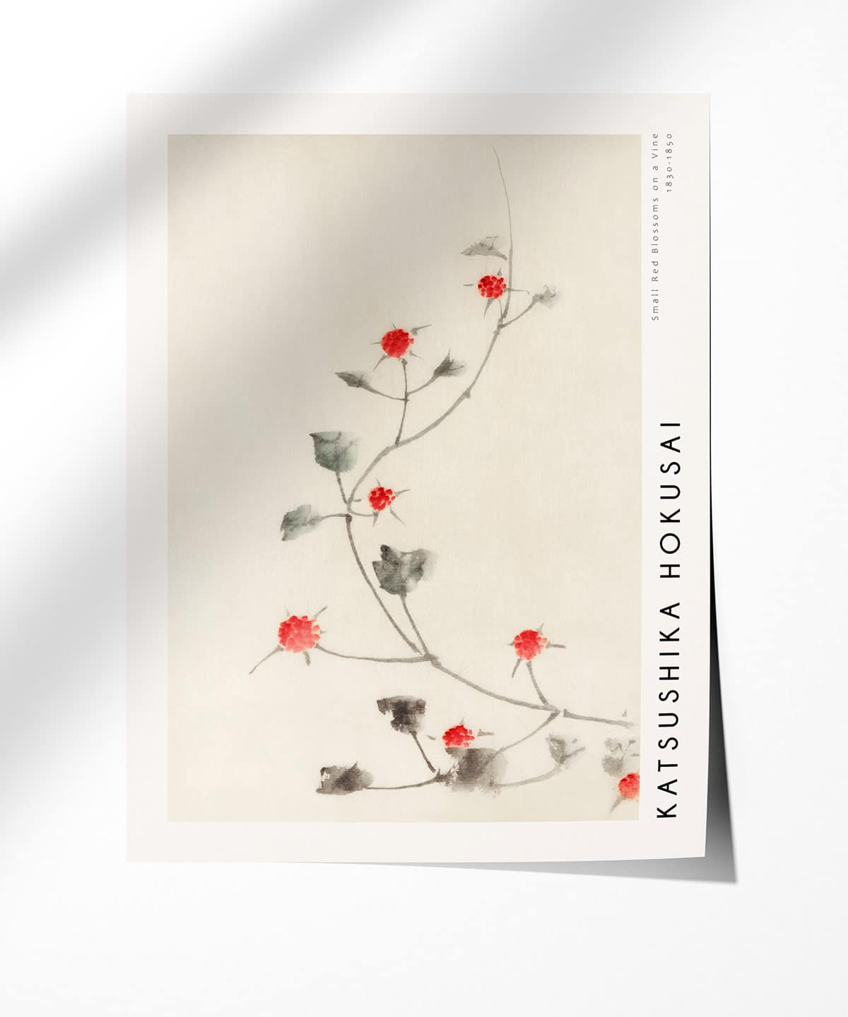 Hokusai-Small-Red-Blossoms-on-a-Vine-Poster-Photopaper-Duwart