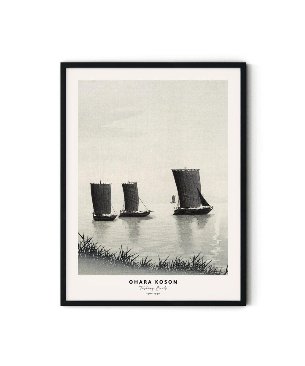 Ohara-Koson-Fishing-Boats-Poster-Duwart
