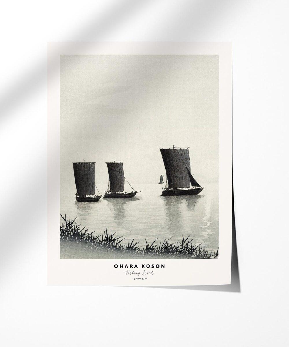Ohara-Koson-Fishing-Boats-Poster-Photopaper-Duwart