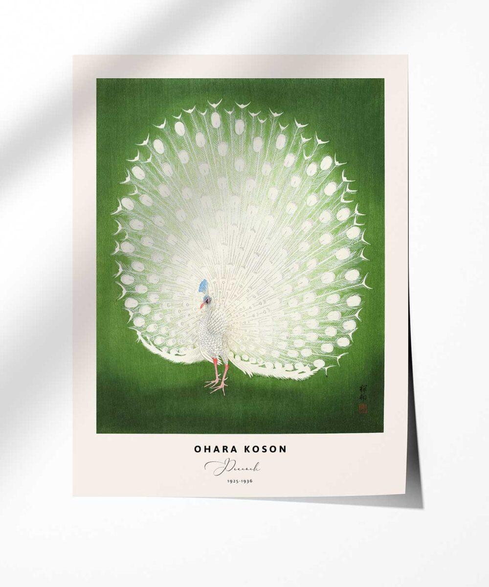 Ohara-Koson-Peacock-Poster-Photopaper-Duwart