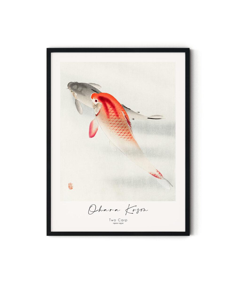 Ohara-Koson-Two-Carp-Poster-Duwart