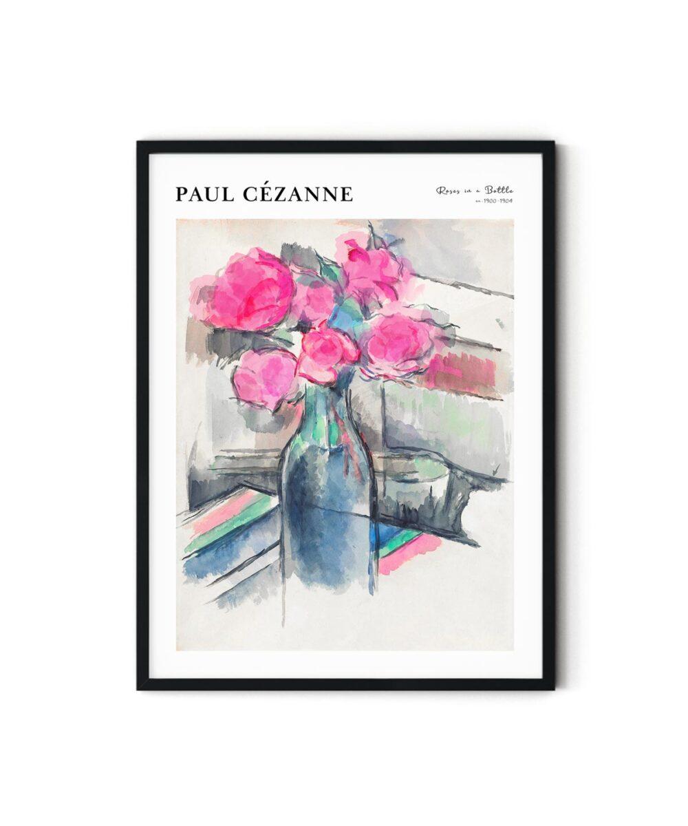 Paul-Cezanne-Roses-in-a-Bottle-Poster-Duwart