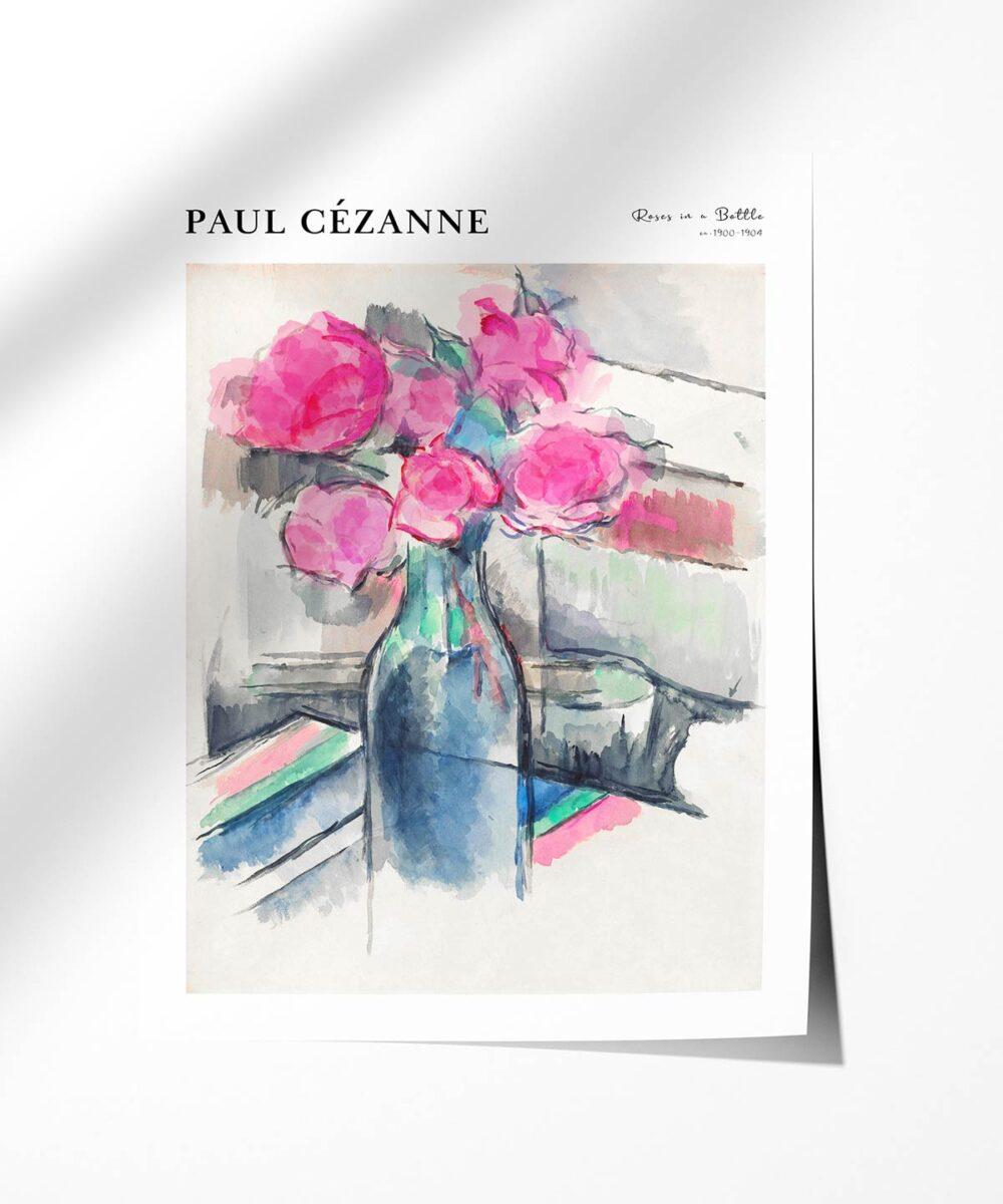 Paul-Cezanne-Roses-in-a-Bottle-Poster-Photopaper-Duwart