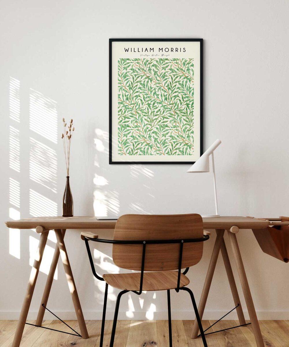 William-Morris-Vintage-Willow-Bough-Poster---Black-Framed-Duwart