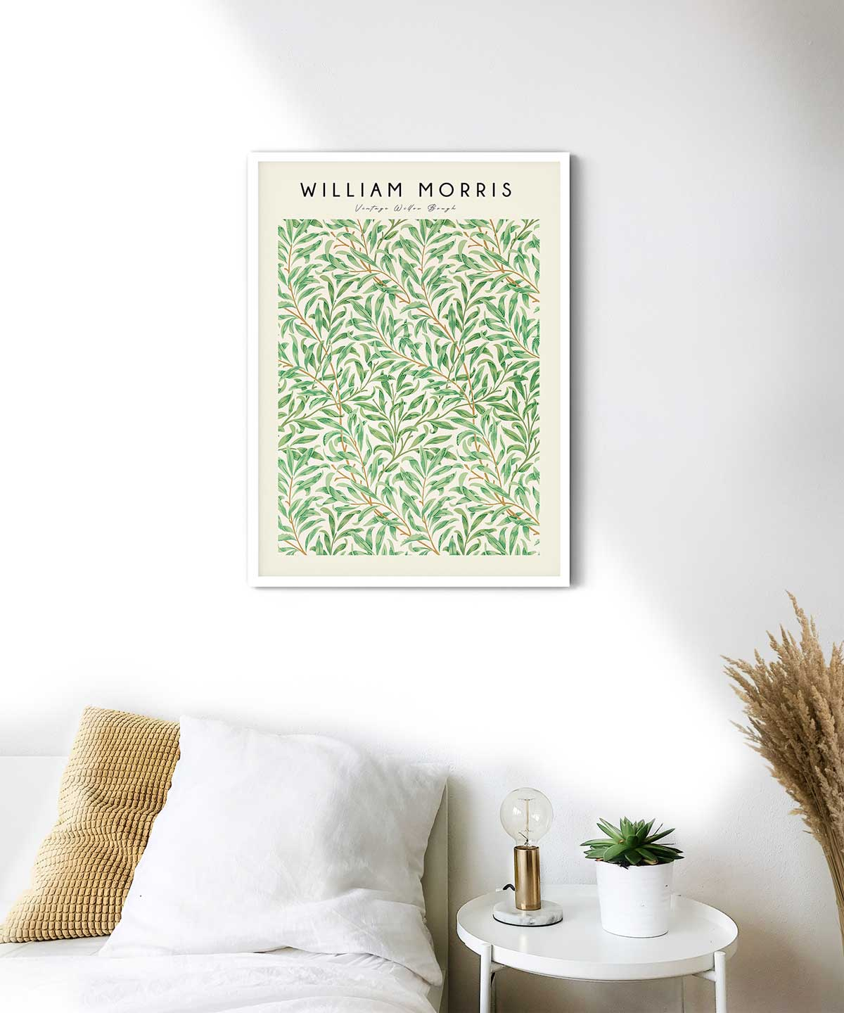 William-Morris-Vintage-Willow-Bough-Poster-White-Framed-on-Wall-Duwart