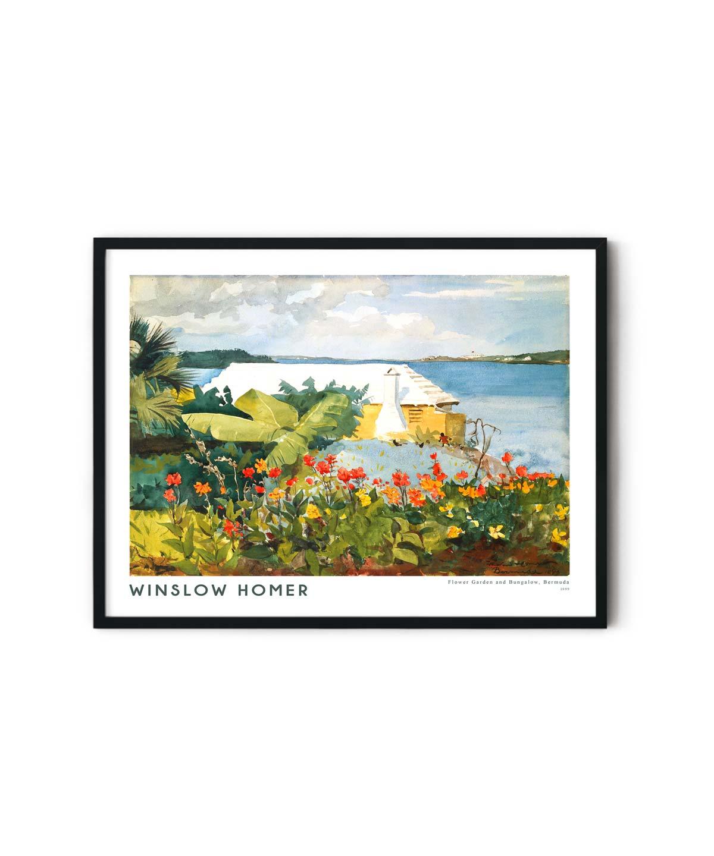Winslow-Homer-Flower-Garden-and-Bungalow-Poster-Duwart