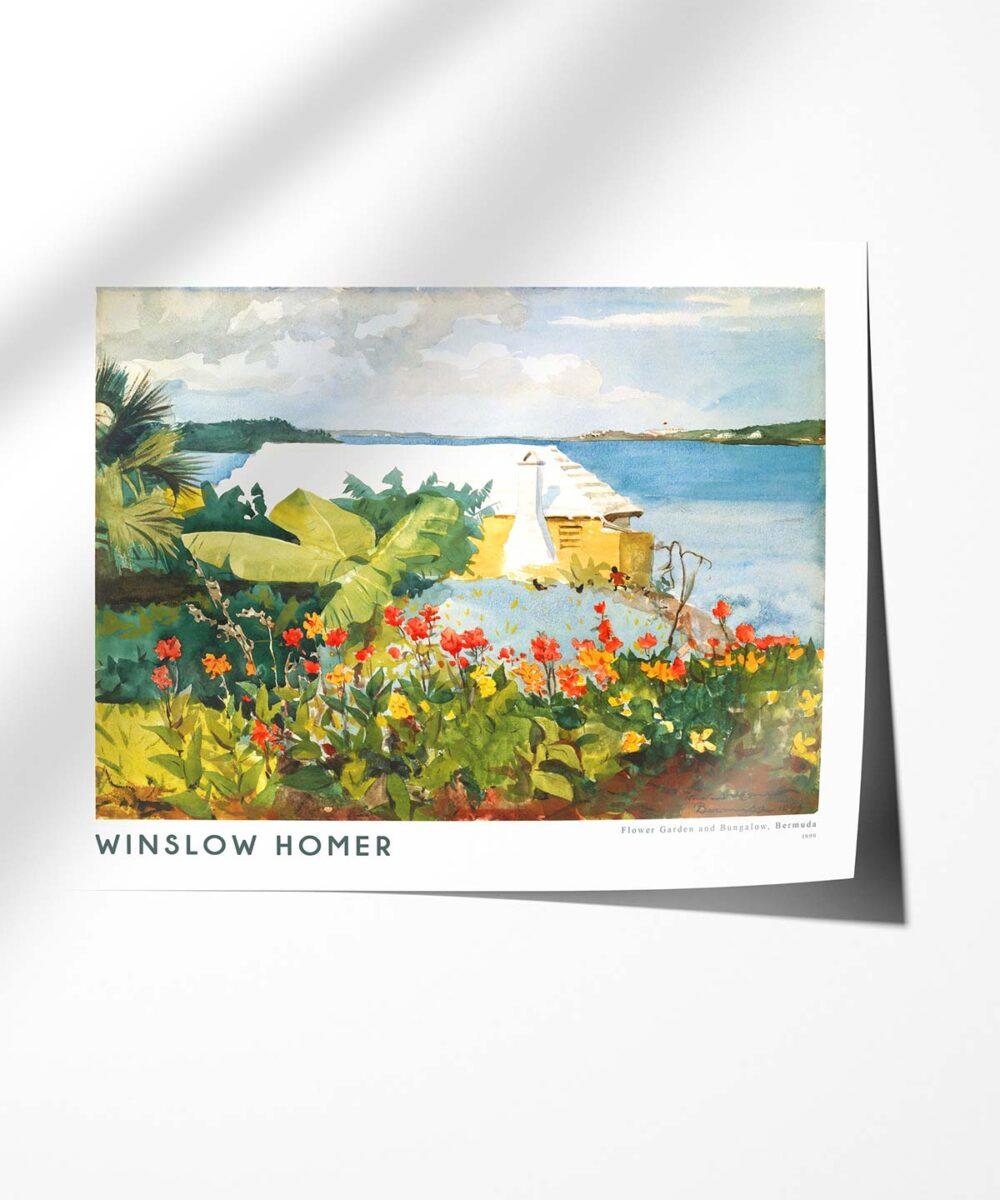 Winslow-Homer-Flower-Garden-and-Bungalow-Poster-Photopaper-Duwart